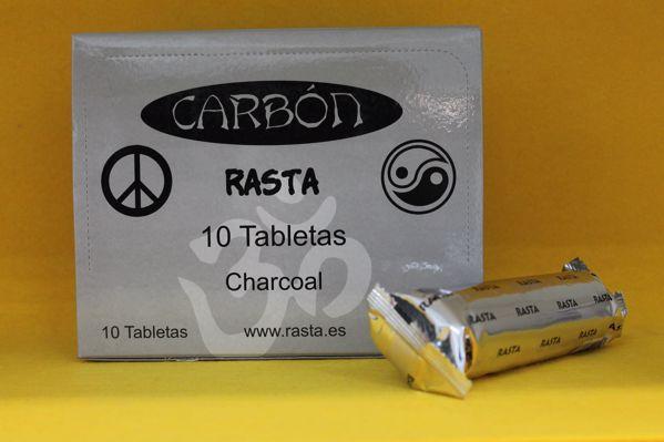Imagen de Carbón Rasta 40 MM Bolsa 10 Tabletas