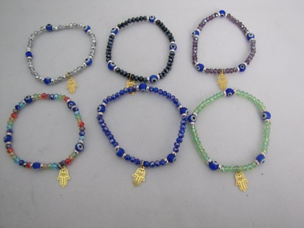 Picture of  TURKISH EYE BRACELET WITH MULTI FACETED GLASS