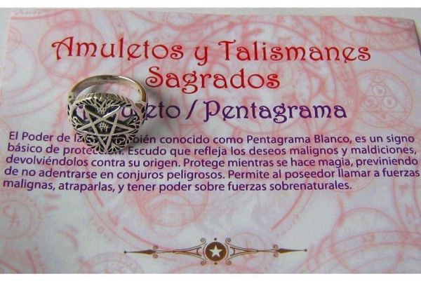 Picture of AMULETO PENTAGRAMA CIRCLE WITH DOUBLE 25MM