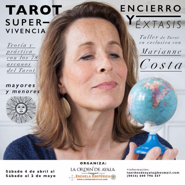 """Picture of Taller de Tarot en Exclusiva con Marianne Costa.   """"Tarot, encierro, supervivencia y éxtasis"""" 25 euros. Diferido. 10 horas de clases grabadas."""